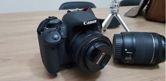 Câmera Fotográfica Canon T51 + Lente 18-55mm + Lente 50mm