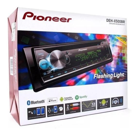 Toca Cd Player Pioneer Deh-x500br X500 Ubs Bt Mixtrax