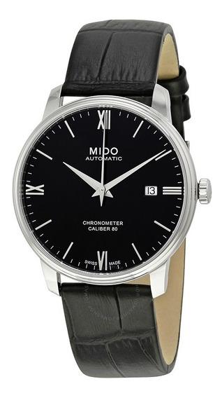 Relógio Mido Baroncelli M0274081605800 Automatico Couro Pret