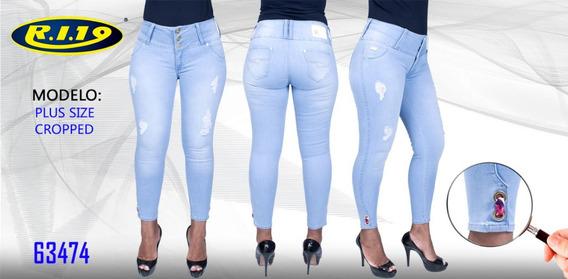 Calça Feminina Ri19 Plus Size Extra Cropped 63474