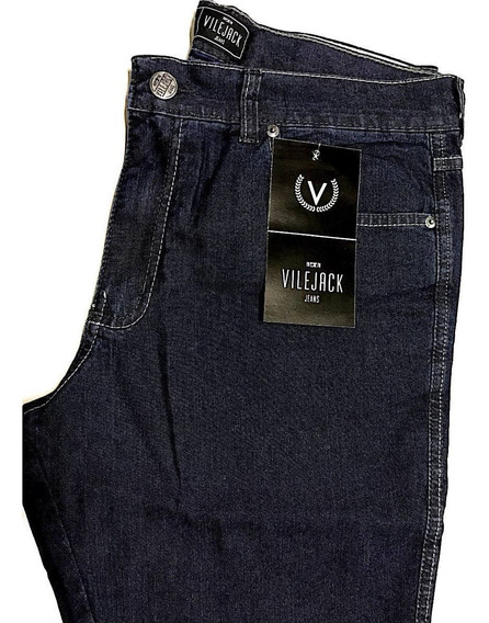 Calça Masculina Jeans Vilejack Lycra Tradidional Corte Reto