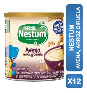 Cereal Infantil Nestum Avena Arroz Ciruela 270g Pack X12