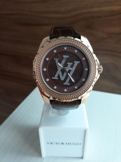 Relógio Victor Hugo Vh10087 + Garantia De 1 Ano + Nf