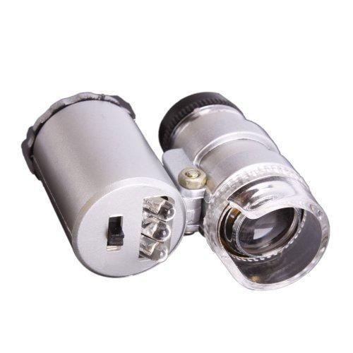 1 X Portátil 60x Microscopio Lupa Lupa Ojo Lupa Con