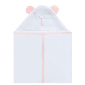 Toalha Com Capuz Para Bebê Madri Rosa - Hug