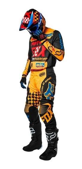 Conjunto Equipo Adulto 180 Czar Amarillo Motocross Fox
