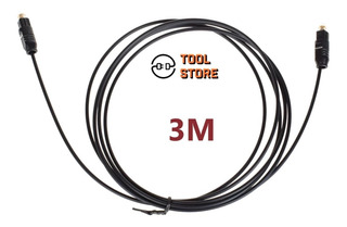 Cable Para Audio Óptico Digital Toslink Slim - 3 Metros