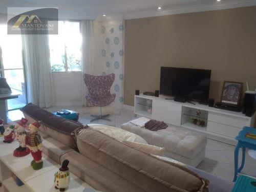 Apartamento Com 3 Dormitórios À Venda, 145 M² Por R$ 580.000,00 - Canto Do Forte - Praia Grande/sp - Ap2590