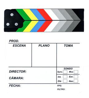 Claqueta Para Filmaciones Cine Y Television