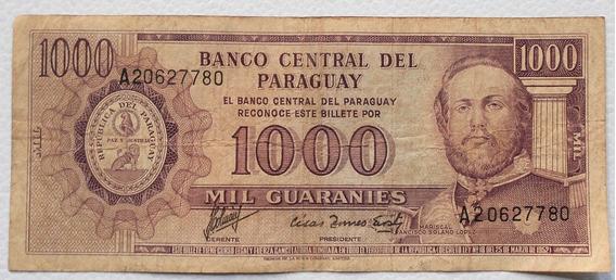 Billete De 1000 Mil Guaranies Paraguay Serie A