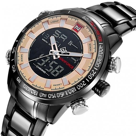Relógio Masculino Naviforce 9093 Preto/marfim