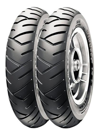 Par Pneu Elite 125 90/90-12 + 100/90-10 Tl Sl26 Pirelli