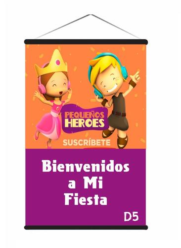 Pequeños Héroes Pendón, Fiesta Cumpleaños Niñ@s 90x60cm