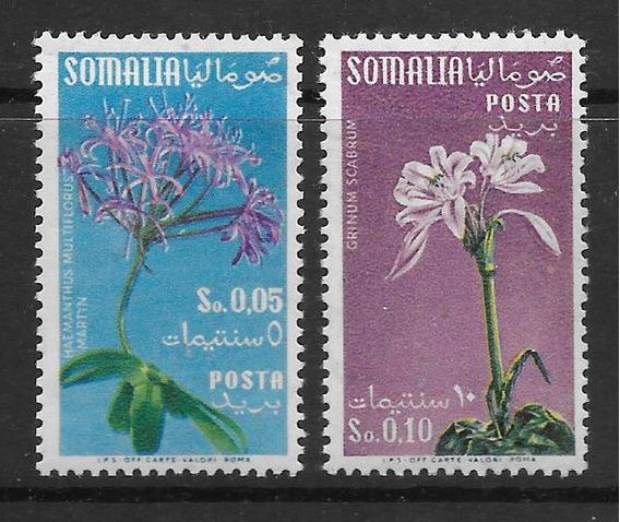 Estampillas Somalia Flores 1955 2 Valores De La Serie Mint
