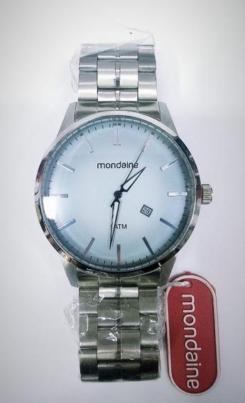 Robusto Relógio Masculino Prata E Azul Mondaine 94827g0mvna1