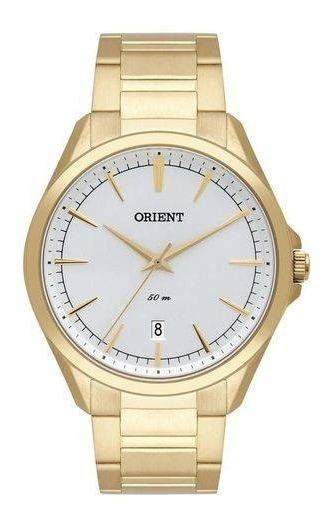 Relógio Orient Masculino Ref: Mgss1166 S1kx Social Dourado