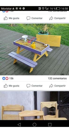 Arenero Con Mesa Y Banco