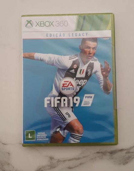 Jogo Fifa 19 Xbox 360 Novo Midia Fisica Português Cd Futebol