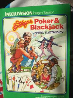 Juego De Poker Y Black Jack Las Vegas-mattel Intellivision