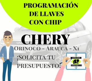Llaves Control Programación Chery Orinoco X1 Arauca Y Más