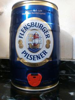 Barril 5l Cerveza Flensburger Pilsener Importada Alemania