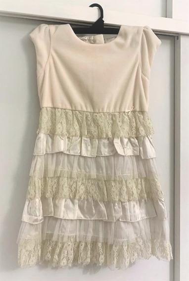 Vestido Nena Fiesta Mimo Talle 8, Un Solo Uso! Como Nuevo!