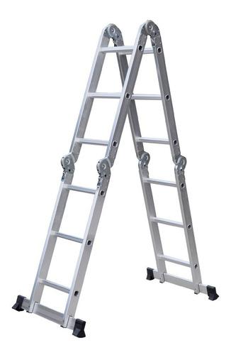 Escalera Andamio Aluminio 3.4 Mts 12 Escalones Premium