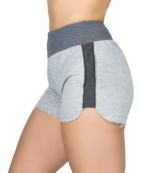 Short Feminino Cintura Alta Liso Confortável Fitness Curto