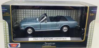 Miniatura Mustang Conversível 1964 1/2 Azul Motormax 1/24