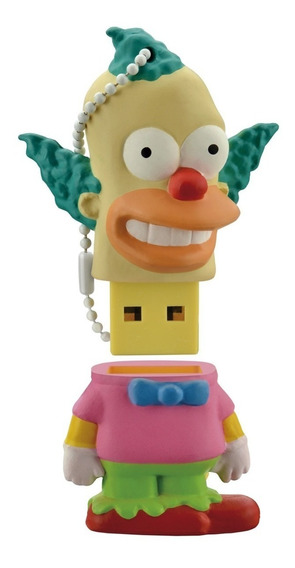 Pendrive Krusty Dos Simpsons Multilaser 8gb Usb 2.0