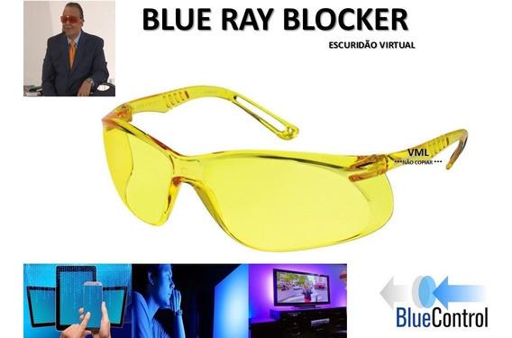 Óculos Anti Luz Azul Escuridão Virtual Contra Insonia