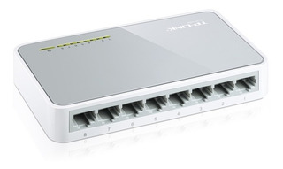 Tp-link, Switch De Escritorio 8 Puertos 10/100, Tl-sf1008d