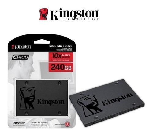 Imagen 1 de 1 de Disco Estado Solido Kingston 240gb Ssdnow A400 Sata Iii 2.5