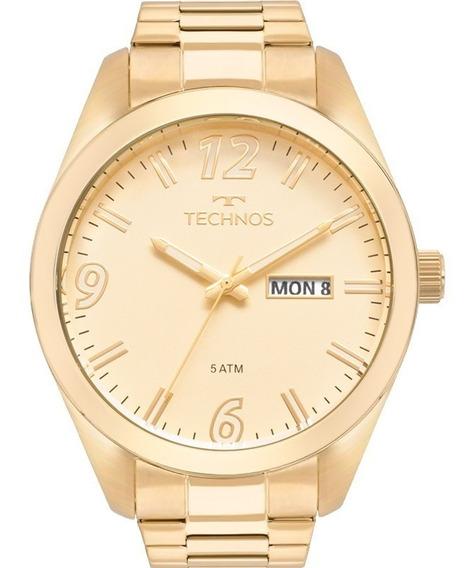 Relógio Technos Masculino Dourado 2305av/4x Original Inox