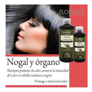 Set 5 Pzas Shampoo Nogal Y Organo Potector De Color 1l C/u