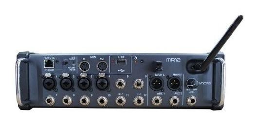 Mesa De Som Digital 12 Canais 4 Xlr/2 Auxiliares Mr12 Midas