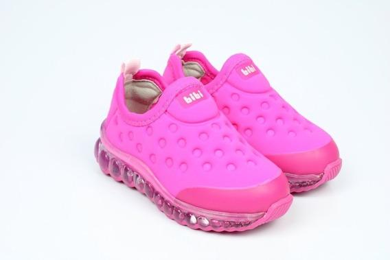 Tênis Infantil Feminino Bibi Roller Led Lycra 1079016