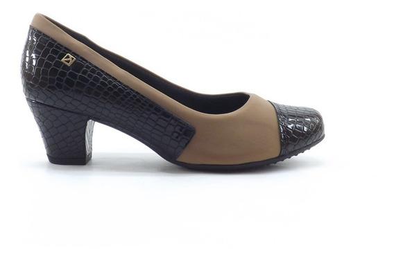 Zapato Picadilly Taco Medio Combinado Nuevos Comodos Dama