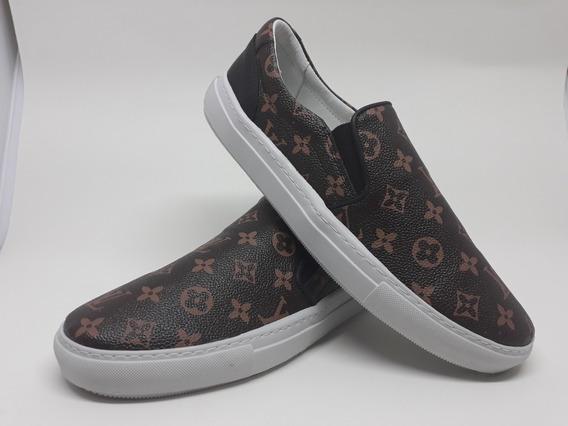 Tênis Louis Vuitton Slip On Elastico Confortavel Na Caixa
