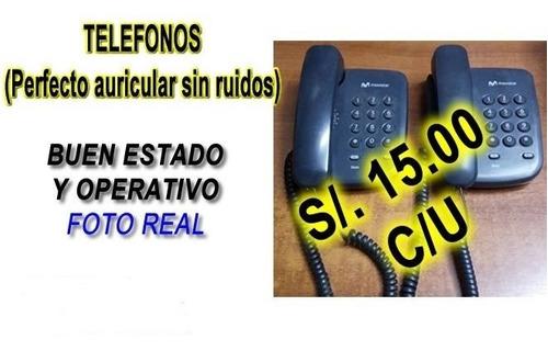 2 Telefonos Con Auriculares Que Se Oyen Perfectamente.