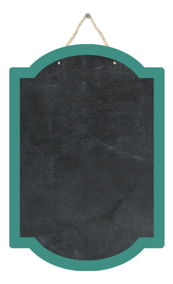 Pizarrón Pizarra Decorativa Cuadro Verde Turquesa 29x43cm