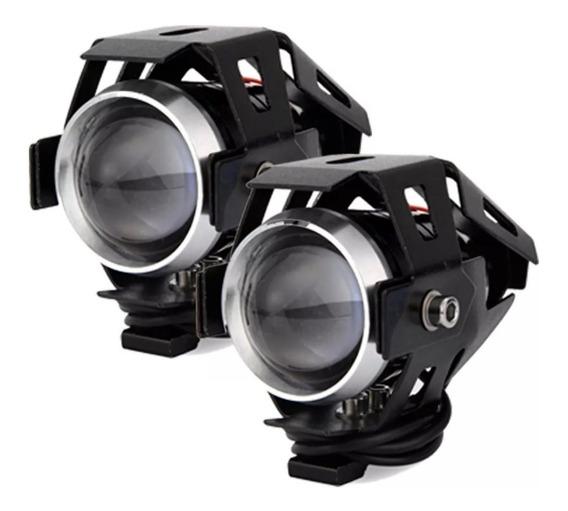 Par Farol Milha Led Auxiliar Neblina Moto Luz Tipo Xenon