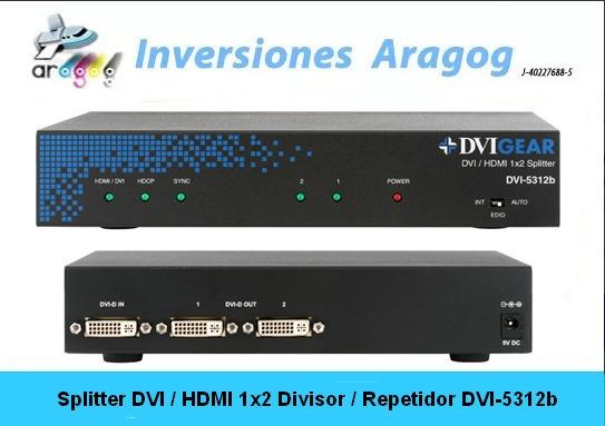 Splitter Dvi / Hdmi 1x2 Divisor / Repetidor Dvi-5312b