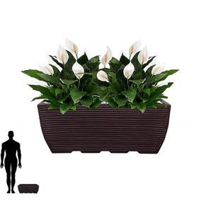 1 Vaso Jardineira Parede Pendente Luminaria Lustre Led 60x25