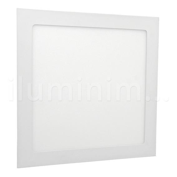 Painel Plafon Luminaria 25w Led Quadrado Slim Embutir 3000k