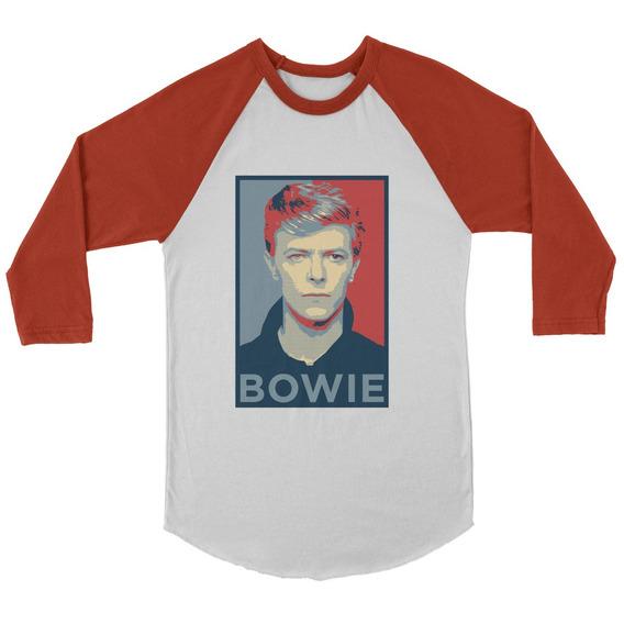 Playera Raglan 3/4 David Bowie