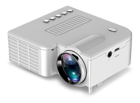 Mini Projetor Led Unic Uc28c Usb Powered Branco