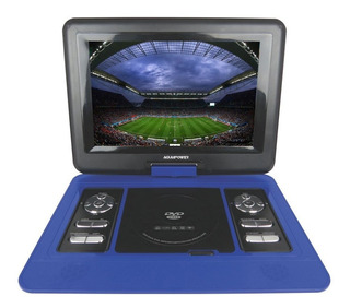 Dvd Portatil 12,5 Polegadas Tela Lcd Tv Digital - Azul