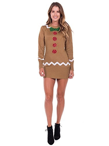 Vestido De Sueter De Pan De Jengibre Para Mujeres Tipsy Elve
