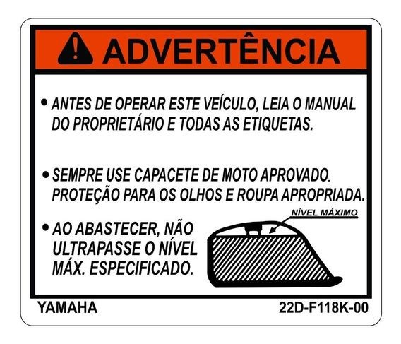 Etiqueta Do Tanque Xt 660 - Adesivos Yamaha - Frete Grátis